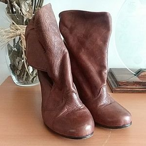 Dolce Vita Rolled Up Booties Brown 8